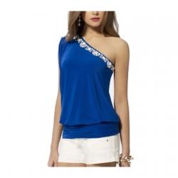 Off Shoulder Ravishing Blue Top