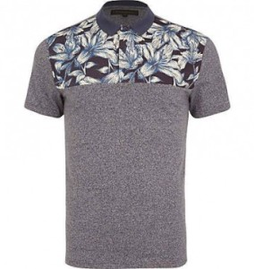 Stylised Floral Print Polo Shirts Men