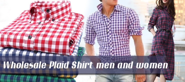 28-07-16-wholesale-plaid-shirt-men-and-women