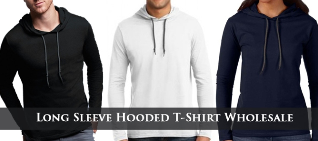 wholesale hooded t shirts supplier